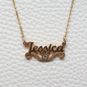 "Disney Gold 'Jessica' Necklace 18"" Chain"